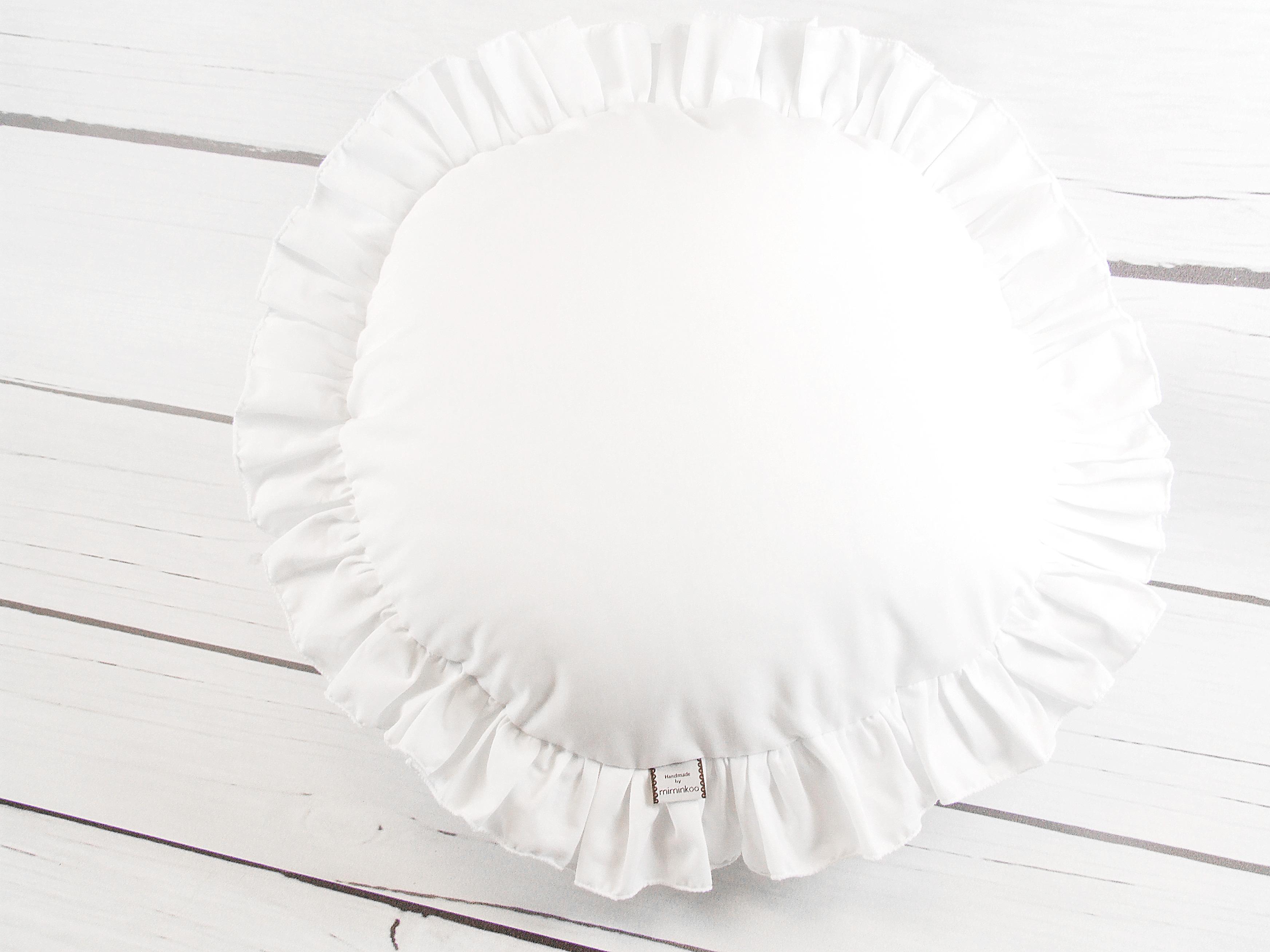 Poduszka okrągła z falbanką